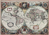 Hendrik Hondius World Map